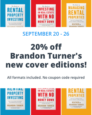 Brandon Turner's new cover editions 20% off this week