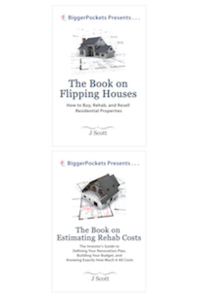 Large book flipping house and rehab cost