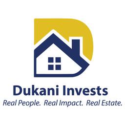Large dukani logo white