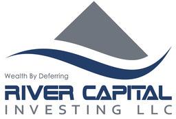 Large river capital logo white