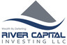 Medium river capital logo white