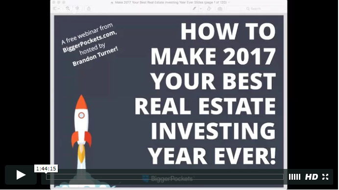 How to make 2017 your best real estate investing year ever