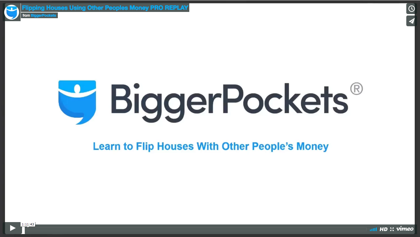 Flipping houses using other peoples money