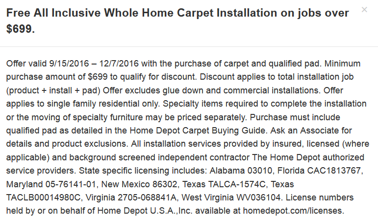 Hme depot free carpet installation george p real estate investor from baltimore maryland malvernweather Images
