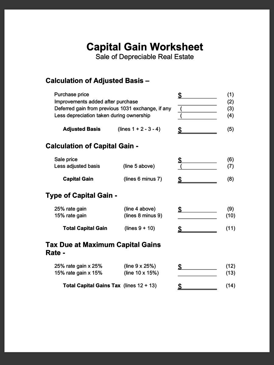 Worksheets 1031 Exchange Worksheet 1031 exchange worksheet virallyapp printables worksheets like kind excel intrepidpath property exchange