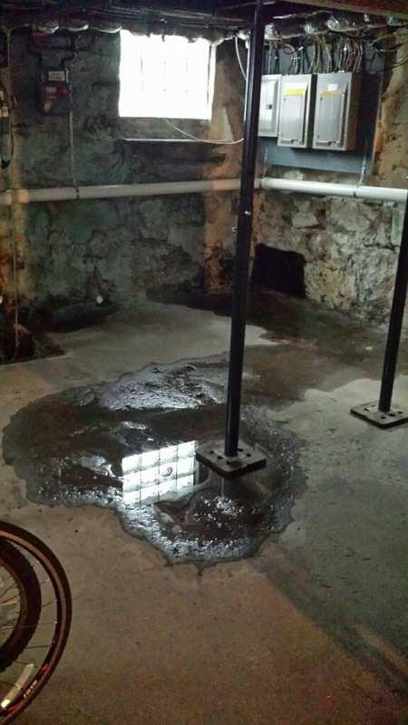 Water Leaking In From Fieldstone Foundation