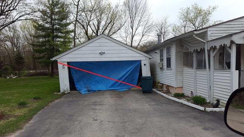 straighten a leaning garage