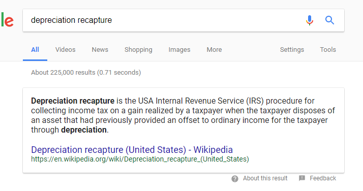 What Is Depreciation Recapture