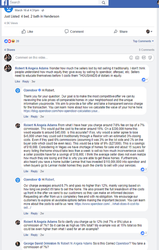 Opendoor offerpad whats their angle i confronted them on a public post of opendoor on facebook you can see for yourself how it went below after my question about them charging 19 they fandeluxe Choice Image