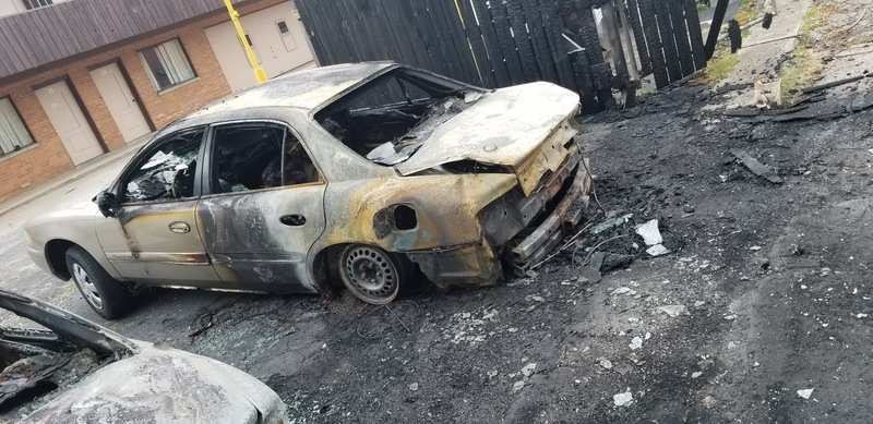 Tenants got into a fight over a nominal sum of money. Burning one parties car was the way one of the parties involved decided to handle the situation.