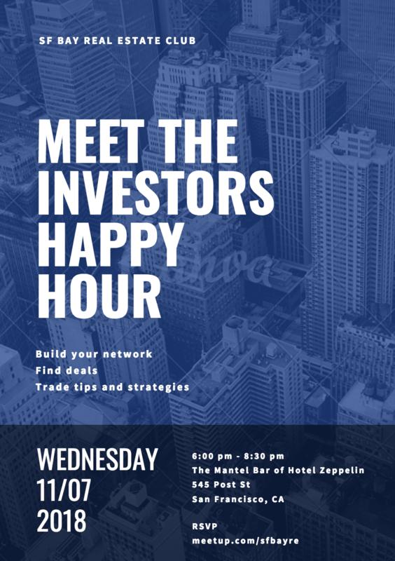 Meet The Investors Happy Hour At The Mantel Bar