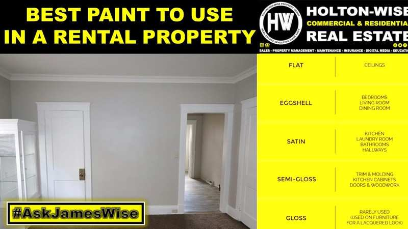 What is the best color and type of paint to use in a rental property?