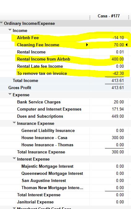 Quickbooks Airbnb sales tax input I think I have it      mostly