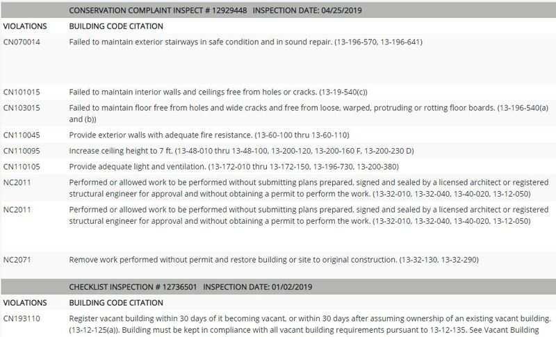 Foreclosure - Code Violations - Lis pendens