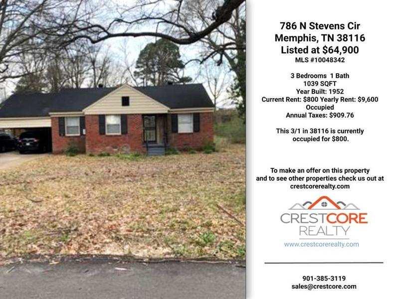 786 N Stevens Cir Memphis, TN 38116