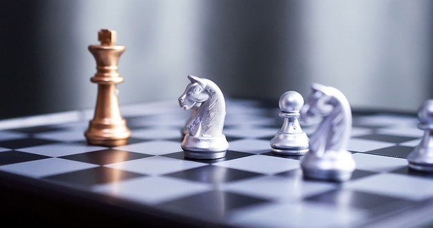 chess board game competition business concept
