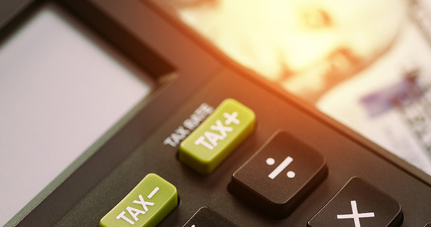 calculator with less tax and more tax buttons