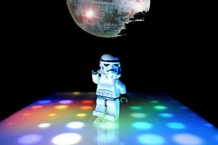 white suit on the dance floor